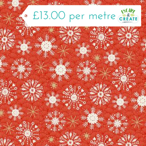 Merry Christmas Snowflake Red by Makower