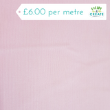 Needlecord Plain in Pale Pink (100% Cotton)
