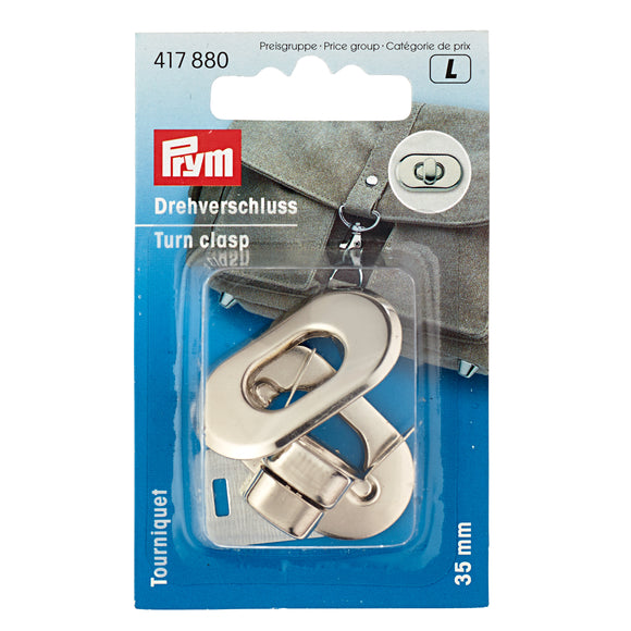 Bag Turn Clasp 35mm in Silver by Prym