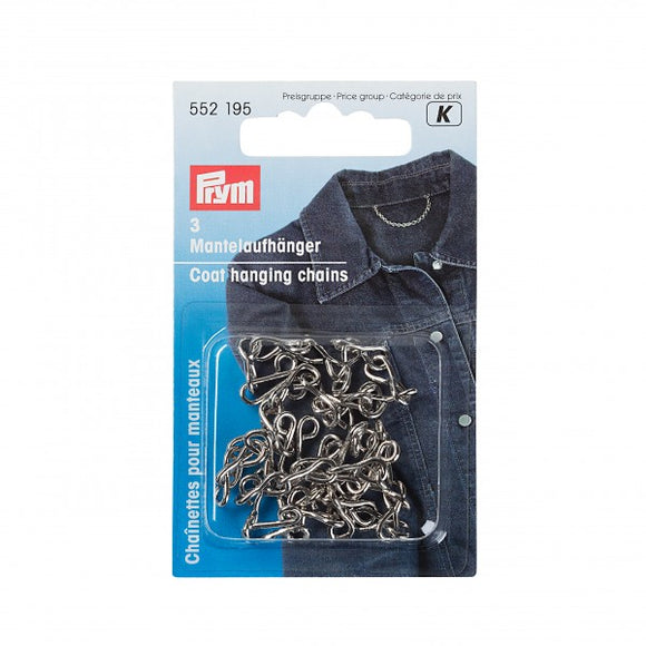 Coat Chains in Black by Prym (3 pieces)