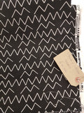 Lines & Shapes Angles Black by Cloud 9 Canvas Cotton (Organic)