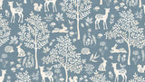 Woodland Forest Blue by Makower 100% Cotton