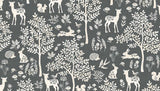 Woodland Forest Grey by Makower 100% Cotton