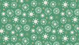 Merry Christmas Snowflake Green by Makower
