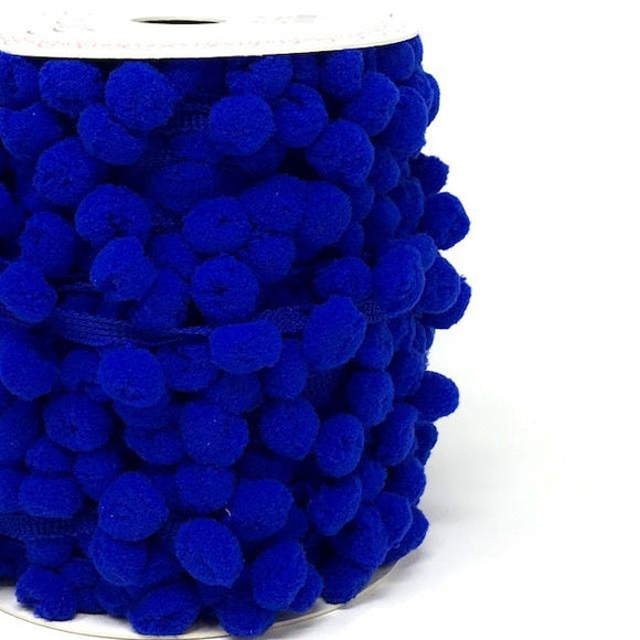Pom Pom Trim 15mm in Royal Blue