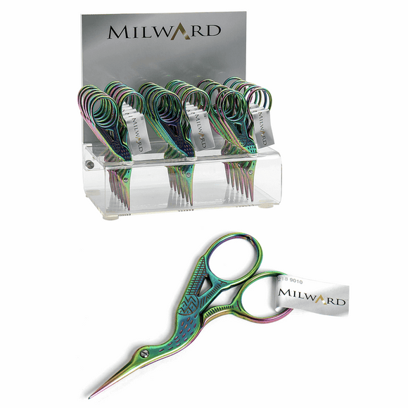 Scissors for Embroidery 9cm Stork in Rainbow by Milward