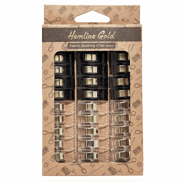 Quilters Clips by Hemline Gold (pack of 30)