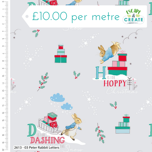 Peter Rabbit Christmas by Craft Cotton Co Letters