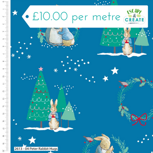 Peter Rabbit Christmas by Craft Cotton Co Hugs