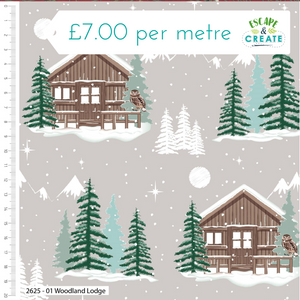Snowy Woodland by Craft Cotton Co Lodge