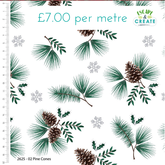 Snowy Woodland by Craft Cotton Co Pine Cone