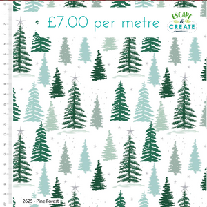 Snowy Woodland by Craft Cotton Co Pine Forest
