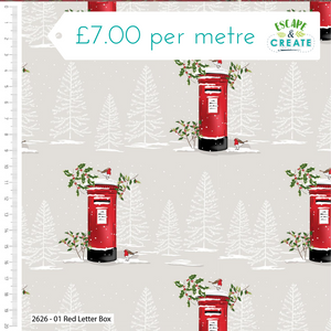 Trad Christmas by Craft Cotton Co Letter Box