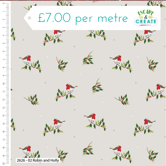 Trad Christmas by Craft Cotton Co Robin