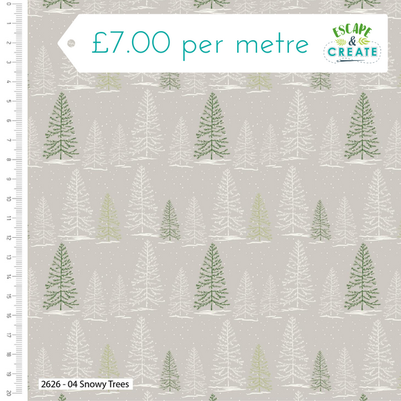 Trad Christmas by Craft Cotton Co Snowy Tree
