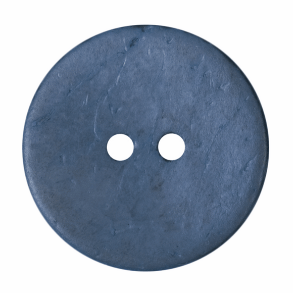 Button 2 Hole 24mm Round Air Force Blue