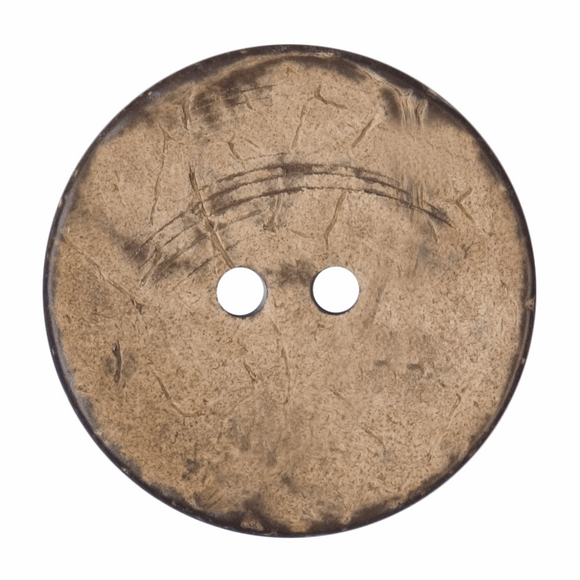 Button 2 Hole 40mm Round Natural