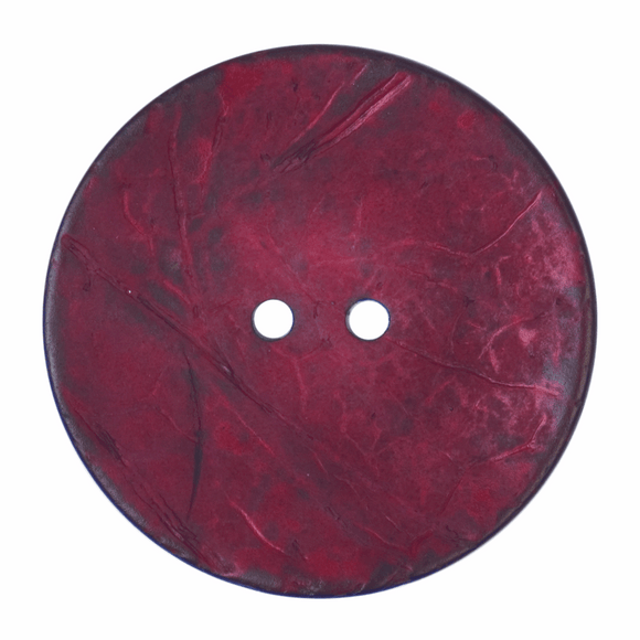 Button 2 Hole 40mm Round Dark Red