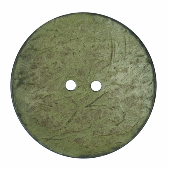 Button 2 Hole 40mm Round Green