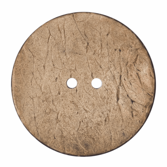 Button 2 Hole 40mm Round Light Natural