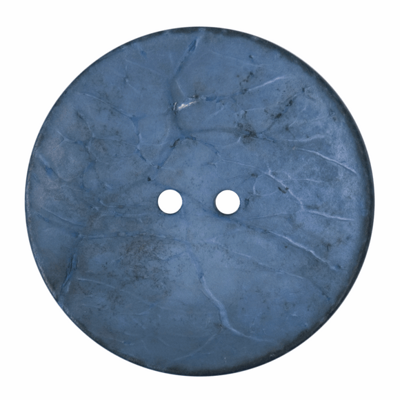 Button 2 Hole 40mm Round Blue