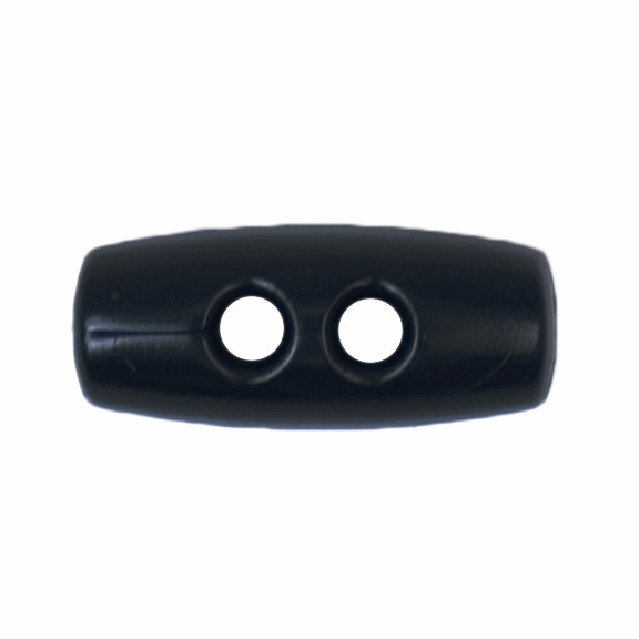 Button 2 Hole Toggle 15mm Dark Blue
