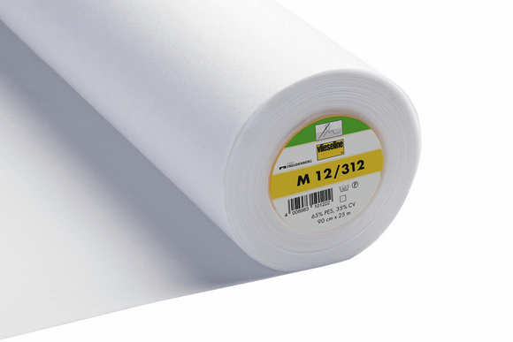 M12/312 Medium Weight Sew In Interfacing White 90cm wide