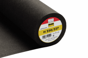 H250 Heavyweight Iron-On Nonwoven Interfacing Black 90cm wide Vilene