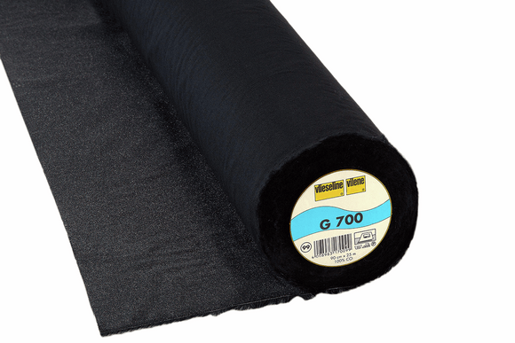 G700 Heavyweight Iron-On Woven Interfacing Black 90cm wide Vilene