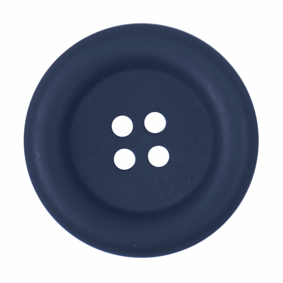 Button 4 Hole 29mm Round Navy