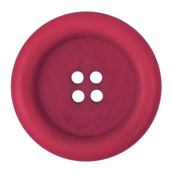 Button 4 Hole 34mm Round Red