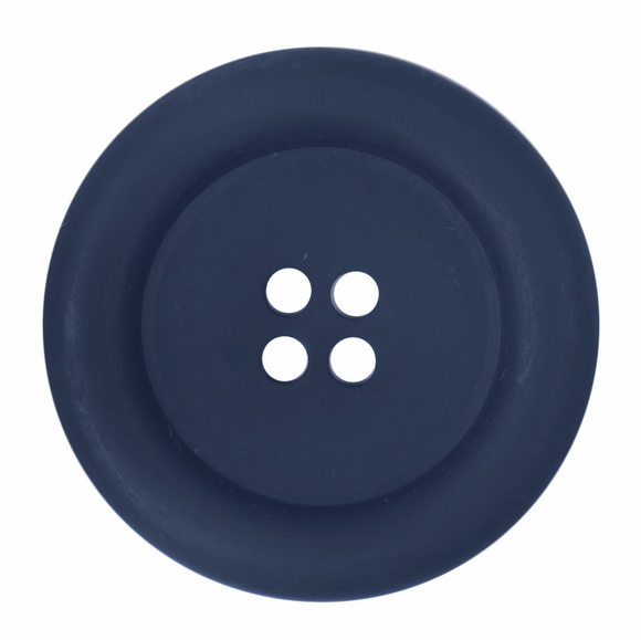 Button 4 Hole 34mm Round Navy
