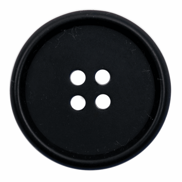 Button 4 Hole 25mm Round Black