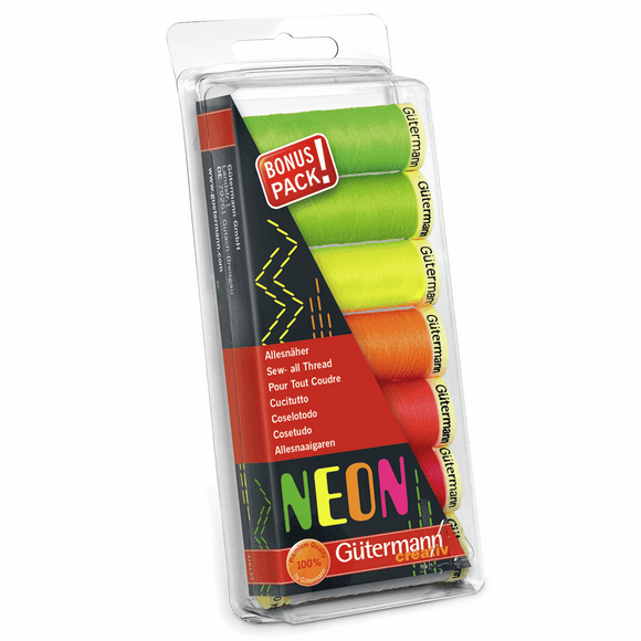 Gutermann Sew All Set of 7 Neon Colours