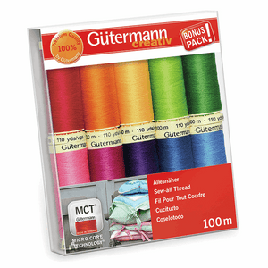 Gutermann Sew All Set of 10 Assorted Brights