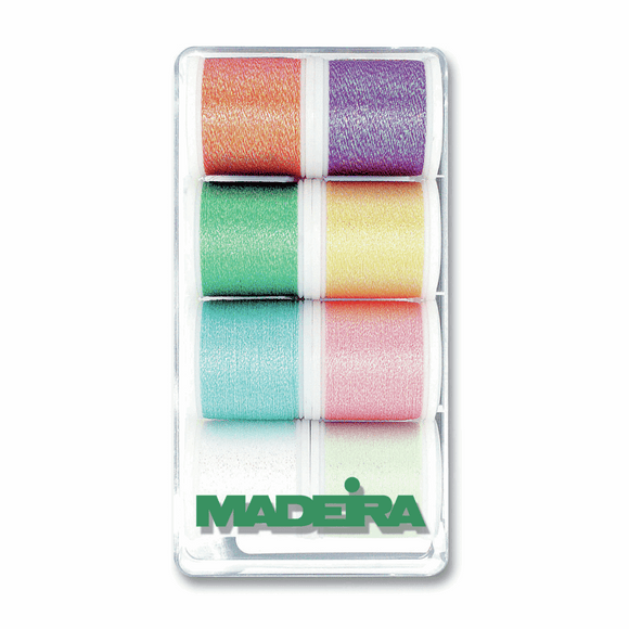 Gift Box - Madeira Set of 8 Metallic Threads - Opal