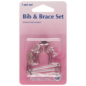 Bib & Brace Set 40mm Nickel