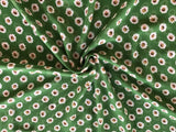 Printed Chiffon Flower on Green