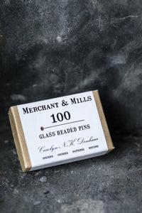 Merchant & Mills Glass Headed Pins 100
