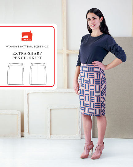 Extra Sharp Pencil Skirt Pattern by Liesl & Co