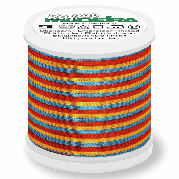 Madeira Rayon Multi Colour No. 40 - 200m - Col 2142