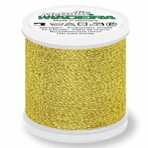 Madeira Metallic Thread No 40 - 200m - Col 25 Gold Nugget