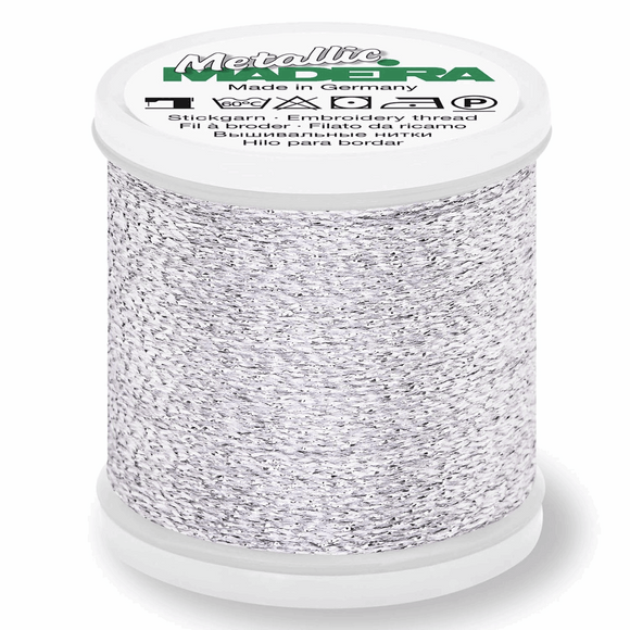 Madeira Metallic Thread No 40 - 200m - Col 041 Silver