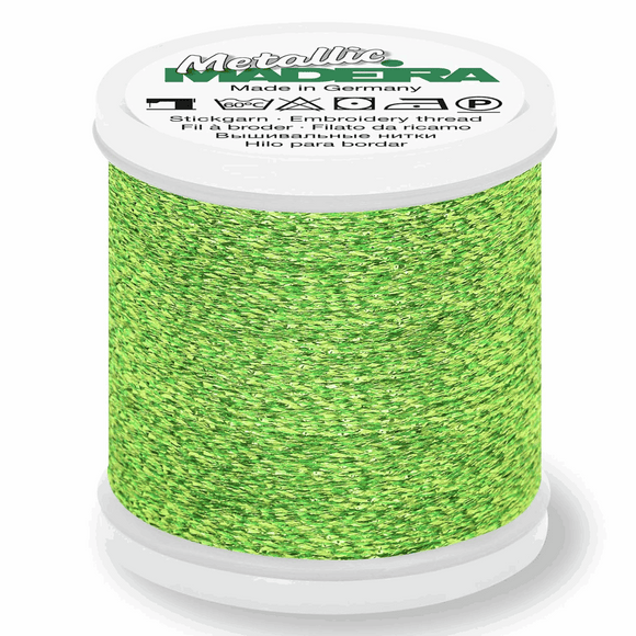 Madeira Metallic Thread No 40 - 200m - Col 052 Glamour Green