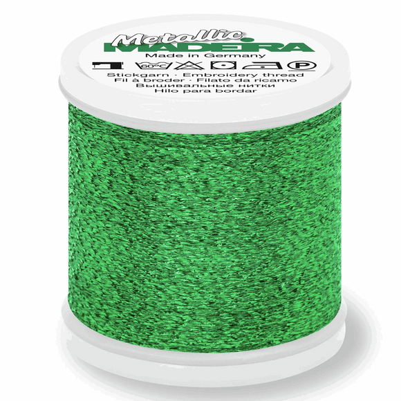 Madeira Metallic Thread No 40 - 200m - Col 057 Emerald