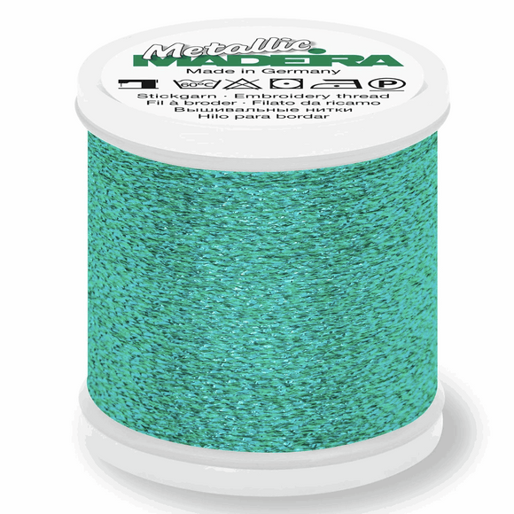 Madeira Metallic Thread No 40 - 200m - Col 065 Malachite