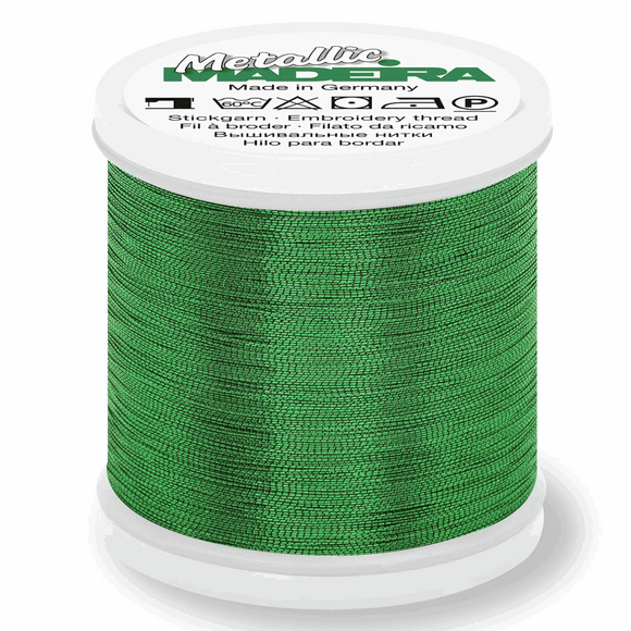 Madeira Metallic Thread No 40 - 200m - Col 358 Emerald
