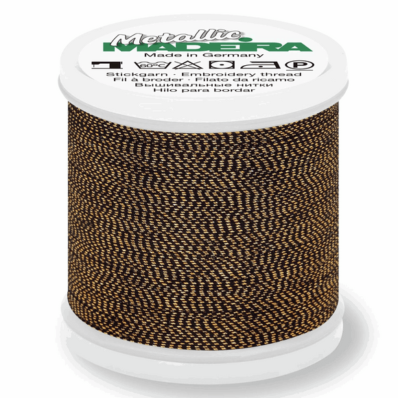 Madeira Metallic Thread No 40 - 200m - Col 425 Sultan Gold