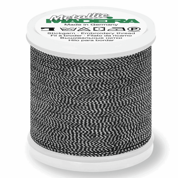 Madeira Metallic Thread No 40 - 200m - Col 442 Antique Silver
