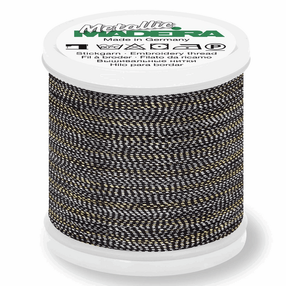 Madeira Metallic Thread No 40 - 200m - Col 484 Golden Silver